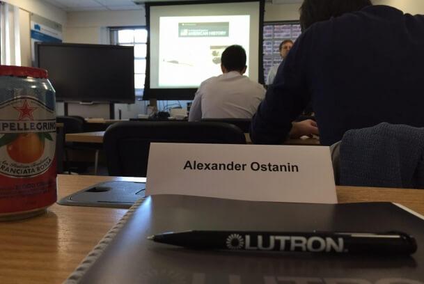 Обучение в офисе Lutron в Лондоне